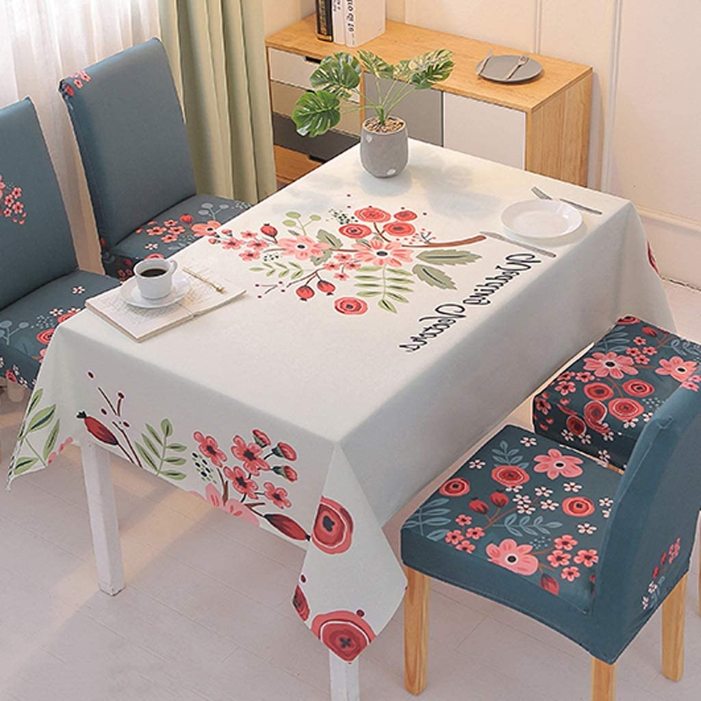 DALIZHAI777 Table Cloths Nordic Cotton Fees free Recta and Max 72% OFF Linen Household