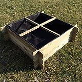 naturholz-shop Hochbeet 100 x 100 x 30 Holz Stecksystem Kräuterbeet Komposter Holzkomposter