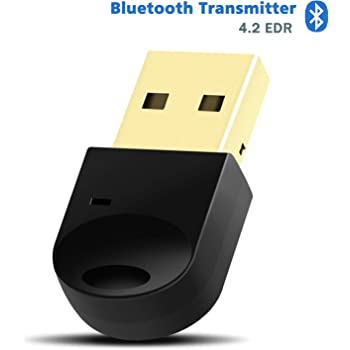 Amazon Com Bluetooth 4 2 Usb Transmitter Dongle Bluetooth 4 2 Transmitter Stereo Music Wireless Transfer Up To 3mbbs For Bluetooth Headphone Speakers Support Windows 10 8 7 For Pc Desktop Laptop Computers Accessories