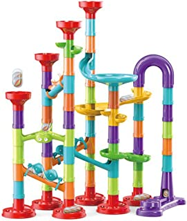 113 Pieces 3D Marble Run Set Construction Building Blocks STEM Learning Toy Early Education for Age 3+ Boys & Girls
