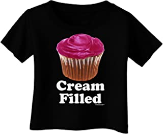 Cream Filled Pink Cupcake Design Infant T-Shirt Dark
