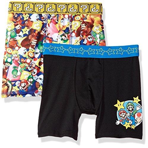 Nintendo Boys' Big 2-Pack Athletic Boxer Brief Underwear, Mario, 8