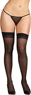 Women's Plus-Size Thigh-High Stockings with Back Seam