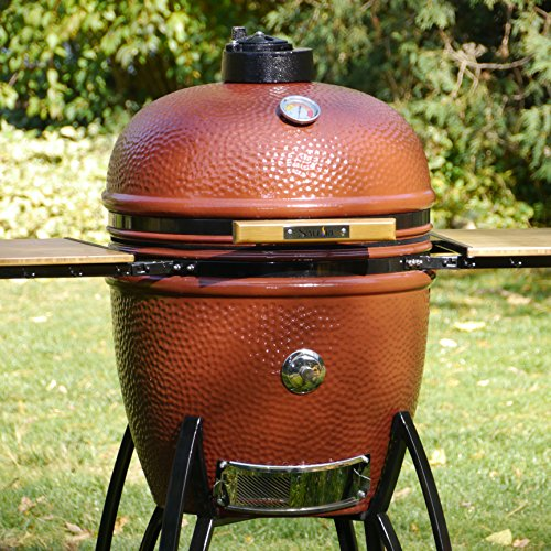 Saffire Grills and Smoker SAFFIRE Kamado, bronze, Gestell fahrbar, Größe L (19