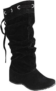 más fotos 3e6a3 7feac Amazon.es: botas caña alta mujer - 40 / Zapatos para mujer ...