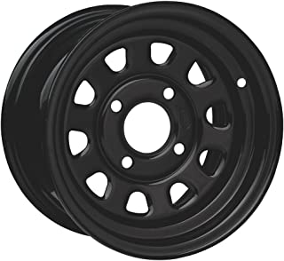 ITP Delta Steel Wheel - 12x7 - 5+2 Offset - 4/110 - Black , Bolt Pattern: 4/110, Rim Offset: 5+2, Wheel Rim Size: 12x7, Color: Black, Position: Front/Rear D12F511