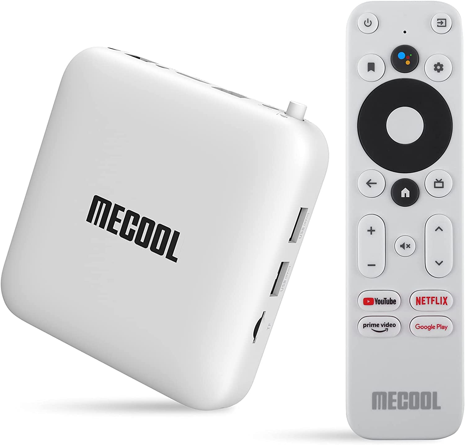 MECOOL KM2 Android TV Box 10.0 Android TV con Netflix Certificado Amlogic S905X2-B TV Box Android 4K Streaming Media Player Certificado Google 2G DDR4 8G EMMc BT 4.2 Smart Box TV Android Dolby Audio