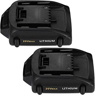 Powerextra 2Pack 3.0Ah WA3520 Replacement Battery Compatible with Worx 20v Lithium Battery WA3525 WA3520 WG151s, WG155s, WG251s, WG540s, WG890, WG891,2Pack