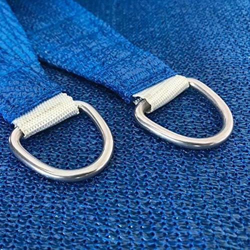 FACAI 185G HDPE Triangle Sun Shade Segeldach 98% UV-Block Top Außenabdeckung Patio Garten Sand mit Hardware-Kits,Blue,4x4x4m