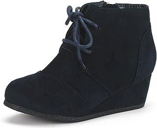DREAM PAIRS Toddler/Little Kid/Big Kid Girl's Low Wedge Heel Booties Shoes