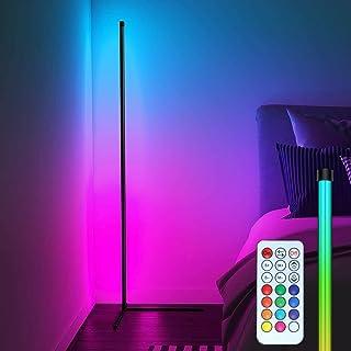 CJHZQYY Lampadaire LED Salon RGB 156 cm Lampadaire sur Pied D'angle Lampe , Variable en Continu Lampe sur Pied Éclairage D...