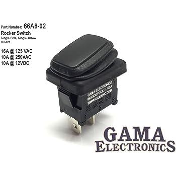 P12001-PR-MOM Waterproof Reverse Polarity Rocker Switch 3 Position Momentary