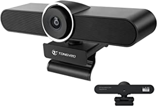 Conference Camera with Microphone and Speakers,Webcam with Microphone and Speaker,Tongveo 1080P HD Web Camra for Desktop,A...