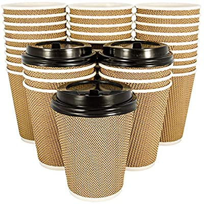 OzBSP Disposable Coffee Cups with Lids