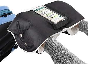 Guantes Silla de Paseo,manoplas para carro bebe,Impermeable a Prueba de Viento Para Extra Grueso Cálido Invierno Cochecito de Bebé Guante, con Funda Transparente para Teléfono (Medio2)