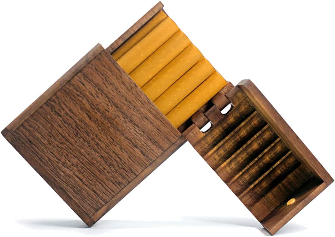 Solid Selling and selling Wood Cigarette case - Beauty products Handmade Cigarettes 10 Ultra-Thin