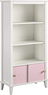 Little Seeds Monarch Hill Poppy White, Pink Doors Kids' Bookcase,
