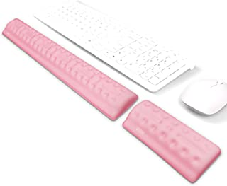 BUBM Keyboard Wrist Rest Mouse Wrist Pad Arm Support with Massage Holes Design, Ergonomic Memory Foam Hand Palm Rest, Comf...