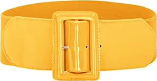 GRACE KARIN Women's Stretchy Belt 1950s 3 Inch Wide Elastic Belts