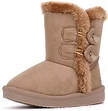 LONSOEN Kids Boys Girls Lace/Zip Up Ankle Boots