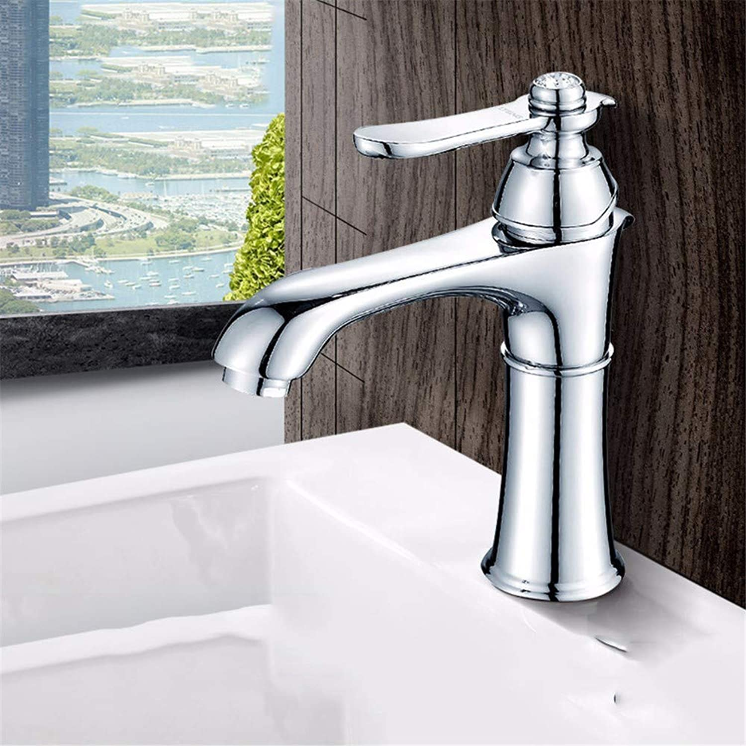 Pyty123-Faucet Washbasin Faucet Hot And Cold Water Bathroom Wash Basin Double Hole Household Washbasin Washbasin