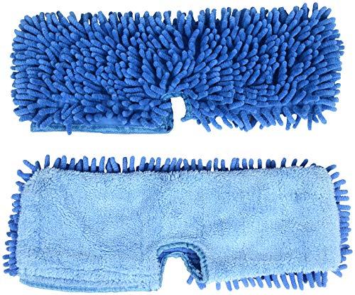 Sichler Haushaltsgeräte Zubehör zu Wisch-Mop: 2er-Set zweiseitige Wischtücher für 2in1-Bodenwischer WM-10 (Nass- & Trocken-Bodenwischer)
