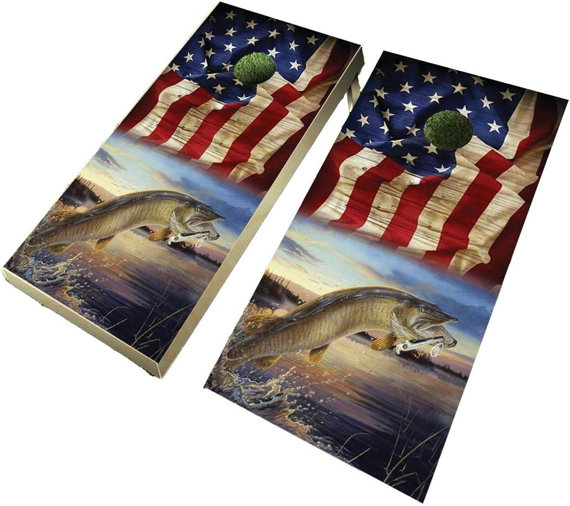 Lets Print Big Muskie Flag Design OFFicial shop Board Wrap Hole Corn B Max 77% OFF Decal