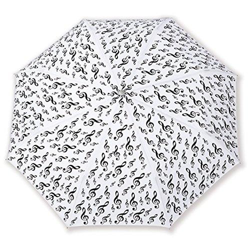 Mini paraplu G-clef wit: Accessoire
