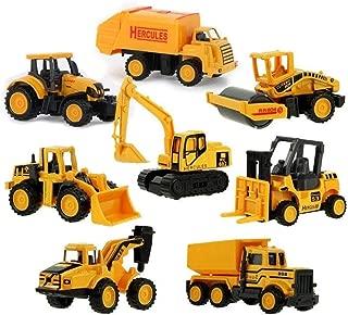 Lingxuinfo Mini Machine Construction Truck Toy Cars Vehicle Truck Cars Toys Set - 8 Pack