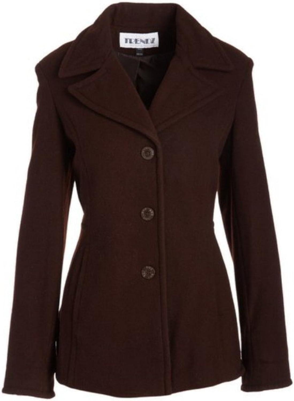 Trendz Women's Ladies Wool Coat