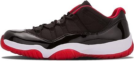 buy online 30b72 a2379 Air Jordan 11 Retro Low Mens BRED Black True Red White Patent Leather