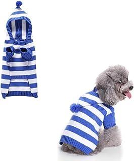 Dibiao Maglione per Cani Maglieria Invernale per Animali Domestici Vestiti Caldi Maglieria per Cani con Buona Elasticit/à per Natale Abbigliamento da Strada Abbigliamento da Casa Giallo