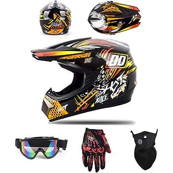 SK-LBB Casco da motocross per bambini o adulti con scooter ATV Downhill MX certificazione D.O.T