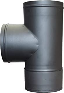 6in. Single Wall Stove Pipe Tee and Clean Out Cap