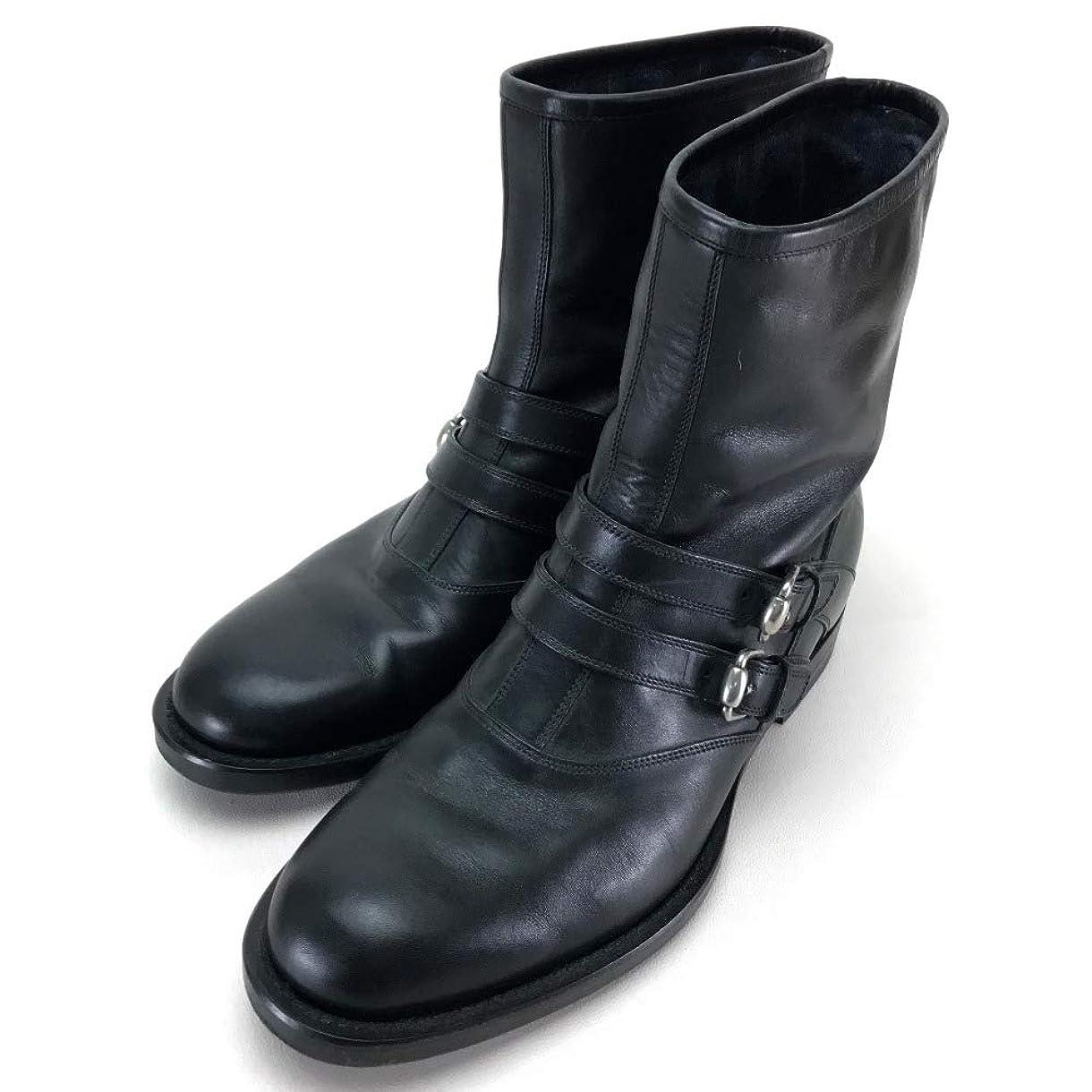 あからさまペースト割り当てる(グッチ)GUCCI ベルト付 ニューモロー シューズ 靴 ショートブーツ ブーツ レザー/メンズ 中古