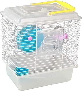 KIBUN Hamster Cage Cristal/Transparent Hourse Pet Portable Carrier Carry Case for Small Animal