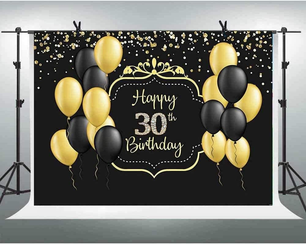 Zhy 7x5ft Glitter Gold and Silver Happy 50th Birthday Backdrop Golden Shiny Fifty Years Old Photography Backgound for Adult Birthday Party Supplies Decoration Photobooth Props G1L2019