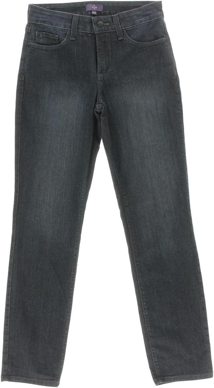 NYDJ Women's Sheri Denim Tummy Tuck Embellished Skinny Jeans, bluee, 0