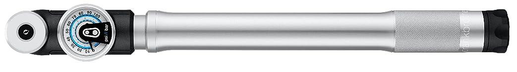 変形する旅外交官crankbrothers(クランクブラザーズ) 自転車 高圧携帯空気入れ ミニポンプ エアゲージ(空気圧計) 仏式 米式 ロードバイク MTB スターリングLG シルバー 046543