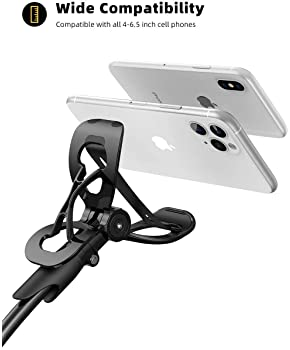 Phone Holder Bed Gooseneck Mount - Lamicall Flexible Arm 360 Mount Clip Bracket Clamp Stand for Cell Phone 11 Pro XS ...