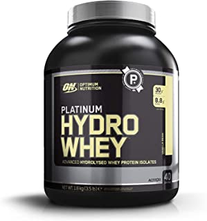 Optimum Nutrition Platinum Hydrowhey Protein Powder, 100% Hydrolyzed Whey Protein Isolate Powder, Flavor: Velocity Vanilla...