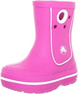 Crocs Crocband Jaunt Rain Boot, Fuchsia, 2 M US Little Kid