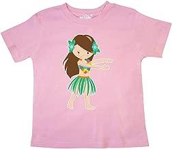 inktastic Brown Haired Hula Girl Toddler T-Shirt