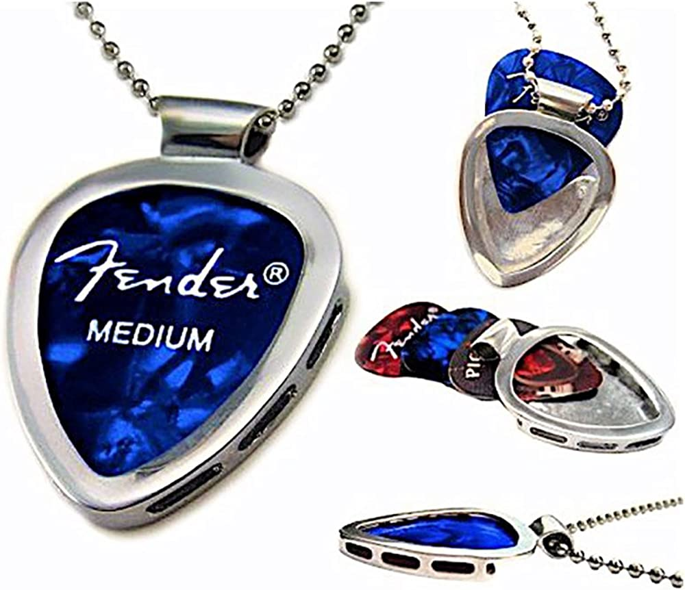 PickBay Guitar Pick Holder Pendant Stainless Fashionable Chrome St Max 74% OFF Necklace