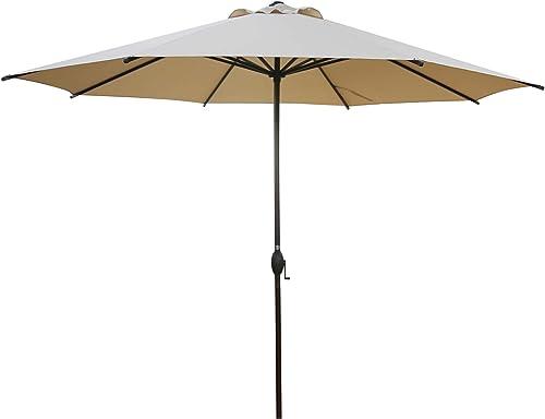 Abba Patio 11ft Patio Umbrella Outdoor Umbrella Patio Market Table Umbrella with Push Button Tilt and Crank for Garde...
