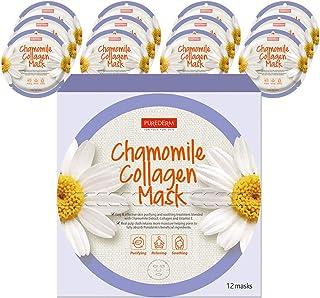 PUREDERM Chamomile Collagen Mask (12masks) / Facial mask/Circle mask/Collagen mask/Vitamin mask/Chamomile mask