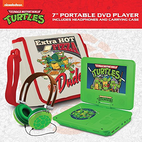 Ematic Teenage Mutant Ninja Turtles 7-Inch Portable DVD Player with Travel Bag and Headphones