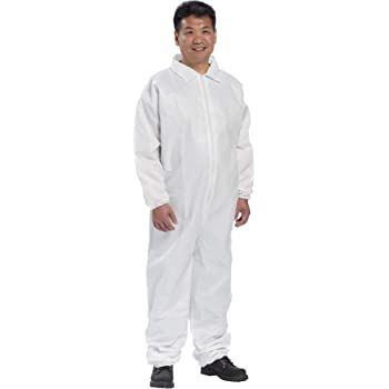 Pack of 1 Majestic 74-201 AeroTEX SMS Coverall with Elastic Wrist /& Ankle 5XL
