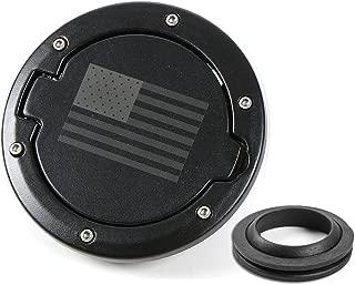 RT-TCZ Fuel Filler Door Gas Tank Cap Cover Accessories for 2007-2017 Jeep Wrangler JK & Unlimited Sport Rubicon Sahara (US Flag)