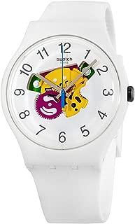Swatch Originals Candinette White Dial Silicone Strap Unisex Watch SUOW148